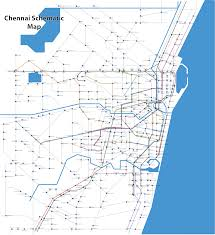 Chennai Metro Map by Chennai Schematic Bus Map Chenai India U2022 Mappery