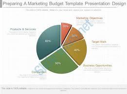 one preparing a marketing budget template presentation design