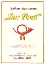Post Bad Essen Balkan Restaurant Zur Post Eicherscheid Home