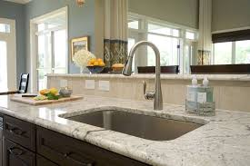kitchen faucet placement unique faucet design ideas grey granite countertop black sectional