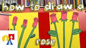 how to draw a rose young artists youtube