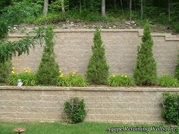 Retaining Wall Ideas For Gardens Backyard Landscape Retaining Wall Ideas Garden Design