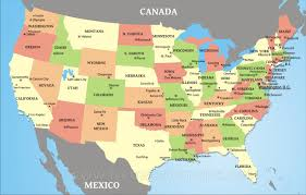 United States Map With States And Capitals Labeled by Usa States And Capitals Map Colorful Usa Map States Capital Usa