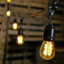 string light suspension kit 100 foot black wire warm white commercial led edison drop string