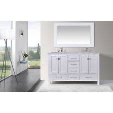 59 Bathroom Vanity by Stufurhome Evangeline 59 Inch Double Sink Bathroom Vanity Ebay
