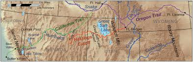 American Route Map by Map Showing Route Of The Donner Party Credit Kmusser Wikimedia