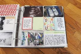 baby boy scrapbook album project tuesday s baby album part 1 one happy