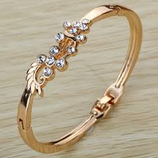 bangle style bracelet images Women 39 s grace vintage style gold hollow peacock wing shining jpg