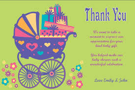 thank you cards baby shower colorful cart thank you cards for baby shower impressive wording