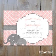 Bridal Shower Invite Wording Photo Elephant Baby Shower Invitation Image