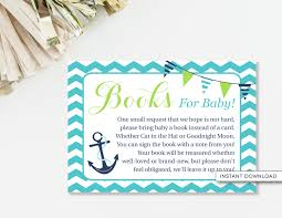 Books Instead Of Cards For Baby Shower Poem Bring A Book Card Ahoy It U0027s A Boy Baby Shower Book Poem