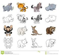 cartoon wild animal illustrations stock image image 31003811