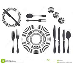 etiquette proper table setting royalty free stock images image