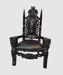 Throne Chair Throne Chair Black On Black Royalty Furniture Store