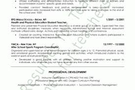 Physical Education Resume Examples by Physical Education Resume Sample Page 2 Education Resume Format