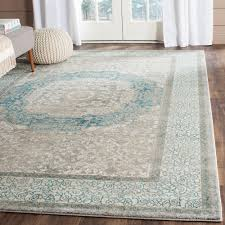 Teal And Gray Area Rug by Safavieh Sofia Light Grey Blue 8 Ft X 11 Ft Area Rug Sof365a 8
