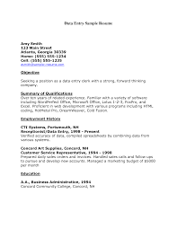 Summary Of Qualifications Resume Catchy Data Entry Resume Sample Displaying Summary Highlights