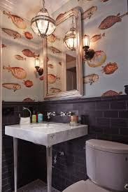 wallpaper bathroom designs best 25 wall paper bathroom ideas on pinterest half bathroom