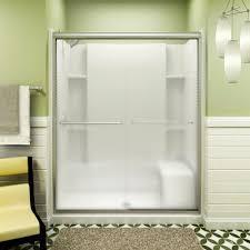 Sterling 5900 Shower Door Sterling Finesse 59 5 8 In X 70 1 16 In Semi Frameless Sliding