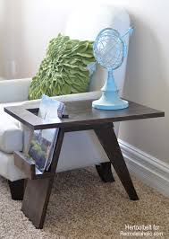 build a diy mid century modern side table and magazine holder