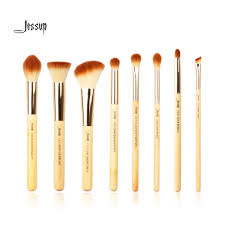 jessup brand 8pcs beauty bamboo professional makeup brushes set