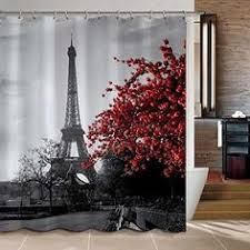 Cheap Travel Quote Eiffel Tower in Paris Shower Curtain cheap and