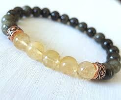 energy bracelet mens images Citrine bracelet men bracelet obsidian bracelet jpg