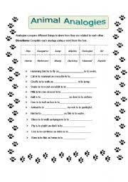 analogies worksheet answers the best and most comprehensive