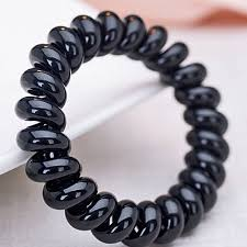 hair rubber bands online shop 3pcs black telephone wire line elastic bands for hair