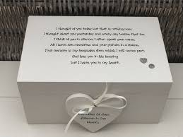 personalised large box in memory of a loved one loss of