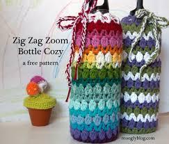 pattern for wine bottle holder free pattern zig zag zoom bottle cozy steel water bottle free