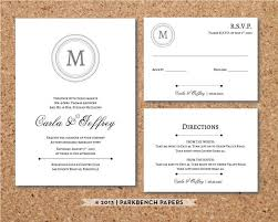 wedding invitations inserts editable wedding invitation rsvp card and insert card classic