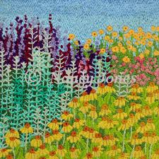 flowers in the garden nancy jones art