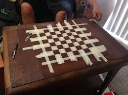 Diy Chess Set by How To Make A Chessboard Out Of An Old Table Business Insider