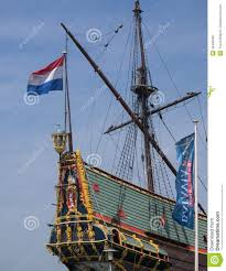 stern of batavia historic tall ship royalty free stock images