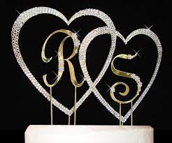heart cake topper flower small letters large hearts cake topper set