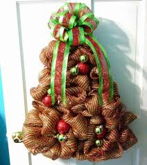 pictures of decorated christmas trees with mesh freyed knot o tree