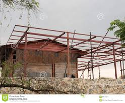 Rustic Bars Old House With Rustic Bars And Rustic Sheets Stock Photo Image