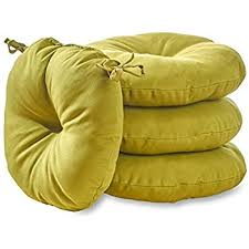 Garden Bistro Chair Cushions Amazon Com Greendale Home Fashions 15 Inch Round Indoor Outdoor
