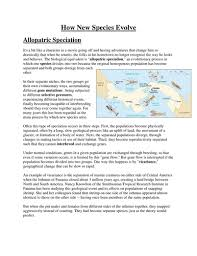 allopatric speciation activity by nicdg teaching resources tes