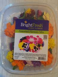 edible flowers packaged edible flowers a feast for the and palate