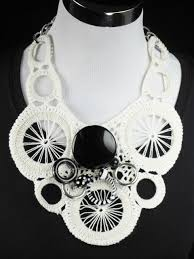 statement necklace white images White statement necklace white crocheted necklace jpg
