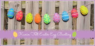 felt easter eggs sweet easter egg bunting tutorial using kunin eco fi plus felt