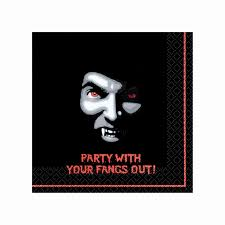 vampire halloween beverage napkins halloween party supplies