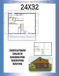 24x24 Floor Plans by Gilmore Log Homes Floor Plans