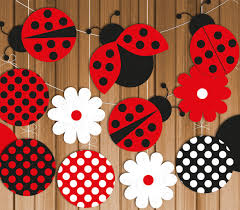 ladybug printable party banner u0026 hanging decorations instant
