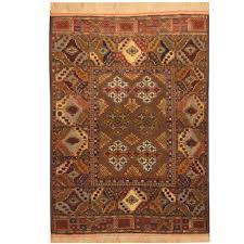 5 By 5 Rug Herat Oriental Afghan Hand Knotted Turkoman Silk Rug 4 U0027 X 5 U00275 By