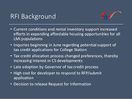 affordable housing development request for information
