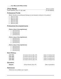 Microsoft Resume Templates 2010 Nice Microsoft Office Resume Templates 12 Microsoft Resume