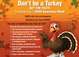 thanksgiving is during gerd awareness week esophageal cancer